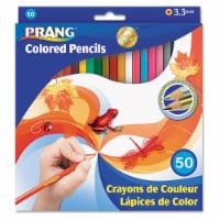 Colored Pencils, Presharpened, 50 Colors - 1