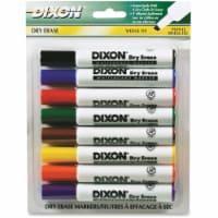 Dry Erase Markers Wedge Tip, 8 Color Set - 1