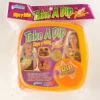 Take A Dip 2 the Side Food Storage Lunch Snack Container 2oz Dip, Orange-Yellow - 1 Count