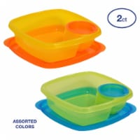 Take A Dip 2 Side Food Storage Lunch Snack Container 2oz Dip Section 2pk - 2 Count