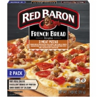 Red Baron Singles French Bread 3-Meat Pizzas 2 Count