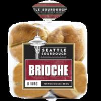 Seattle Sourdough Backing Company Brioche Hamburger Bun - 8 ct / 20.5 oz