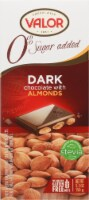 Valor Dark Chocolate with Almonds Bar