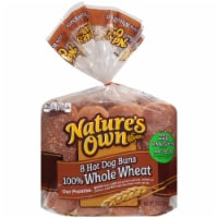 Nature's Own 100% Whole Wheat Hot Dog Buns 8 Count
