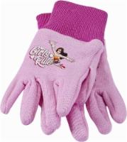 Midwest Quality Gloves Wonder Woman Toddler Girls' Jersey Gardening Gloves - Pink
