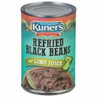 Kuner's Refried Black Beans with Lime Juice - 15.5 oz