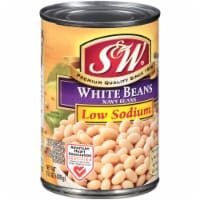 S&W Reduced Sodium Premium White Beans - 15 oz