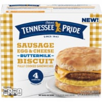 Odom's Tennessee Pride Sausage Egg & Cheese Buttermilk Biscuit Sandwiches