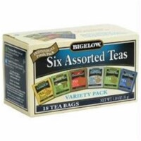 Bigelow Tea Assorted Tea - 6 Variety - Case of 6 - 18 BAG