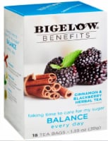Bigelow Benefits Cinnamon & Blackberry Herbal Tea Bags