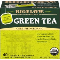 Bigelow Organic Green Tea Bags 40 Count