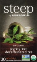Bigelow Steep Organic Pure Green Decaffeinated Tea