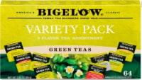 Bigelow 8 Flavor Green Assortment Variety Pack Tea Bags 64 Count