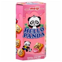 Meiji Hello Panda Straberry Creme Filled Cookie - 2.1 Oz