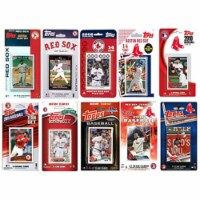 C & I Collectables REDSOX1017TS MLB Boston Red Sox 10 Different Licensed Trading Card Team Se