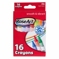 Rose Art 16 Count Smooth And Vibrant Crayons