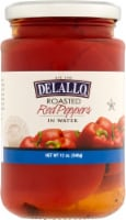 Delallo Roasted Red Peppers - 12 oz