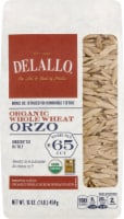 DeLallo Organic Whole Wheat Orzo No 65