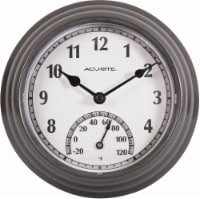 Acu-Rite Outdoor Clock with Thermometer - Gunmetal Gray