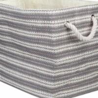 Design Imports CAMZ10098 Paper Bin - Basketweave Gray & White, 15 x 10 x 12 in. - 1