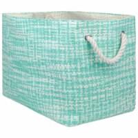 Design Imports CAMZ10140 Rectangle Paper Bin - Tweed Aqua, Large
