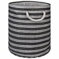 Design Imports CAMZ10155 Round Paper Bin - Basketweave Black & White, 20 x 15 x 15 in. - 1