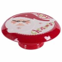 DII Ceramic Santa Cake Plate With Stand - 1