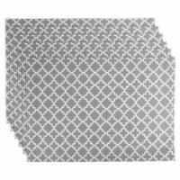 Design Imports CAMZ10483 Gray Lattice Placemat - Set of 6