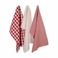 Design Imports CAMZ10660 Holiday Checks Heavyweight Dish Towel & Dishcloth Set - Set of 6