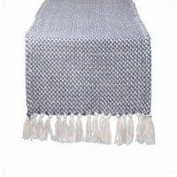 DII French Blue Woven Table Runner - 1