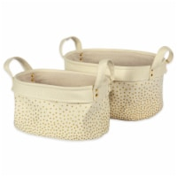 DII Canvas Laundry Bin Confetti Gold Oval Assorted (Set of 2) - 1