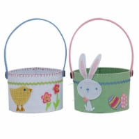 Design Imports Chick & Bunny Baskets - Set of 4