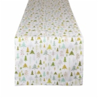 Design Imports CAMZ10878 14 x 108 in. Holiday Woods Printed Table Runner - 1