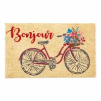 DII Orange Buffalo Check Tablecloth - 1