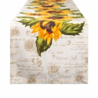 Design Imports CAMZ11171 14 x 72 in. Rustic Sunflowers Printed Table Runner