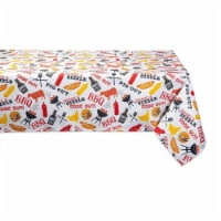 Design Imports CAMZ11189 60 x 84 in. BBQ Fun Print Outdoor Tablecloth