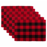 Design Imports CAMZ11249 Red Buffalo Check Ribbed Placemat - Set of 6
