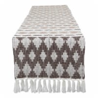 Design Imports CAMZ11273 72 in. Colby Southwest Dark Brown & Stone Table Runner - 1