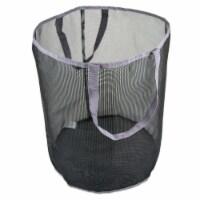 DII Bath Mesh Laundry Basket Gray - 1