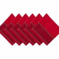Design Imports CAMZ11367 Holly Stripe Jacquard Napkin - Set of 6