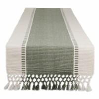 Dii Artichoke Green Dobby Stripe Table Runner 13X72