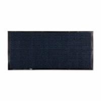 Design Imports CAMZ11443 22 x 60 in. Blue & Black Walk Off Utility Runner Mat