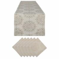 Dii Winter Sparkle Jacquard Table Set - 1