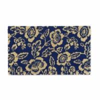 DII Blue Peonies Doormat - 1