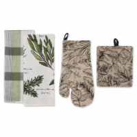 Design Imports CAMZ11623 Fresh Herbs Kitchen Dishtowel - Set of 4 - 1