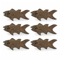 Design Imports CAMZ11625 Fish Napkin Ring - Set of 6