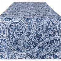 Design Imports CAMZ11648 14 x 108 in. Blue Paisley Print Outdoor Table Runner