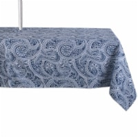 Design Imports CAMZ11653 60 x 120 in. Blue Paisley Print Outdoor Tablecloth With Zipper - 1
