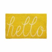 DII Yellow Hello Doormat - 1