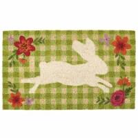 DII Gingham Bunny Doormat - 1
